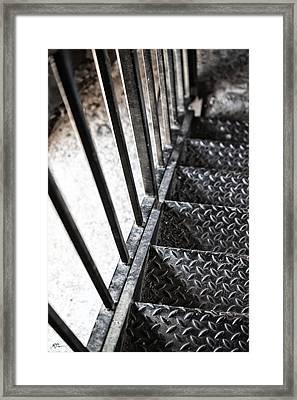 Quiet Stairwell Framed Print by Karol Livote