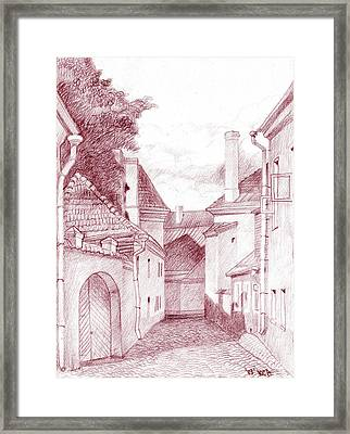 Quiet Street Framed Print by Serge Yudin