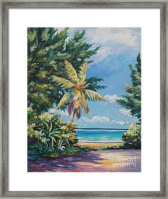 Quiet Stretch Of Beach Framed Print by John Clark