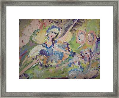 Quiet Time Fairies Framed Print by Judith Desrosiers