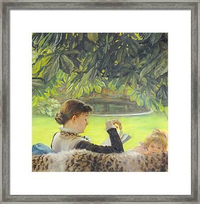 Quiet Framed Print by Tissot