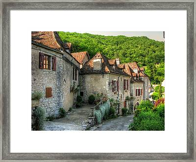 Quiet Village Life Framed Print by Douglas J Fisher