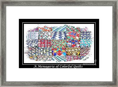 Quilt Collage Illustration Framed Print by Barbara Griffin