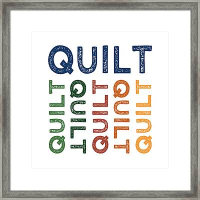 Quilt Cute Colorful Framed Print by Flo Karp