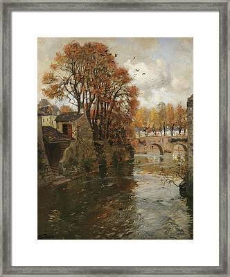 Quimperle. Bretagne Framed Print by Frits Thaulow