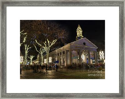 Quincy Market Boston Massachusetts Framed Print by Juli Scalzi