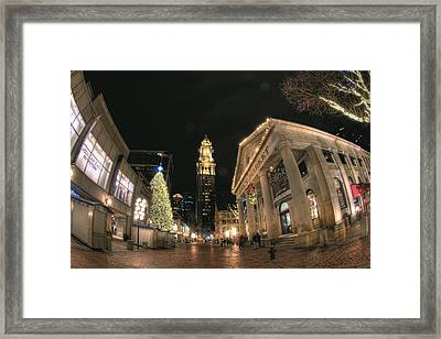 Quincy Market Celebration Framed Print by Joann Vitali