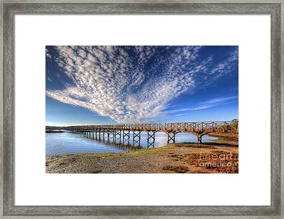 Quinta Do Lago Wooden Bridge Framed Print by English Landscapes