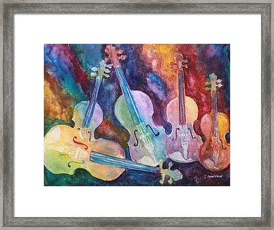 Quintet In Color Framed Print by Jenny Armitage