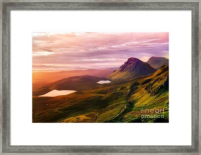 Quiraing - Isle Of Skye Framed Print by Matt  Trimble