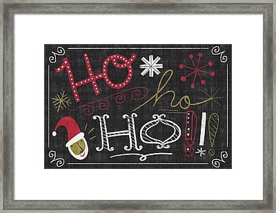 Quirky Christmas Santa Framed Print by Michael Mullan