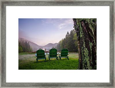 Quite A View Framed Print by Kristopher Schoenleber
