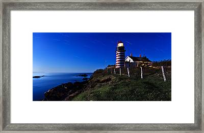 Quoddy Head By Moonlight Panorama Framed Print by Bill Caldwell -        ABeautifulSky Photography
