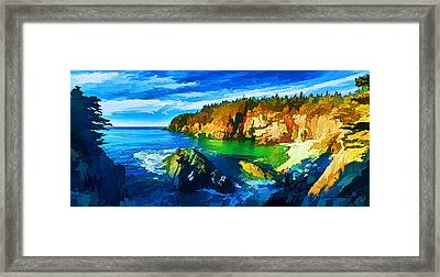 Quoddy Head Cove Framed Print by Bill Caldwell -        ABeautifulSky Photography