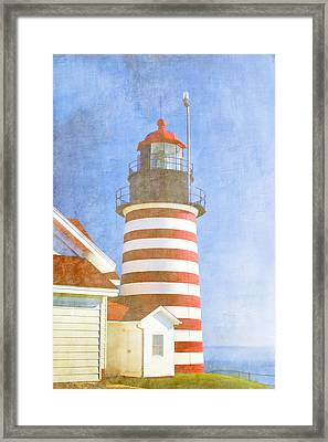 Quoddy Lighthouse Lubec Maine Framed Print by Carol Leigh
