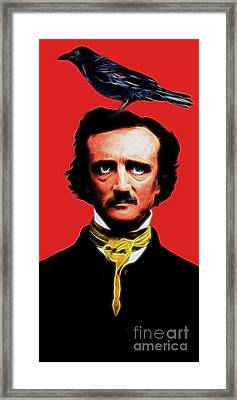 Quoth The Raven Nevermore - Edgar Allan Poe - Electric Framed Print by Wingsdomain Art and Photography