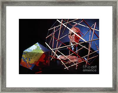 R. Buckminster Fuller 1981 Framed Print by The Phillip Harrington Collection