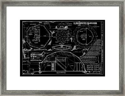 R. Buckminster Fuller Geodesic Dome Home Framed Print by Daniel Hagerman