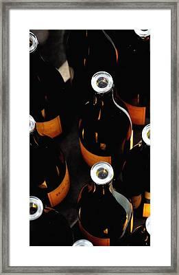 R Stuart Bottles 21152 Framed Print by Jerry Sodorff