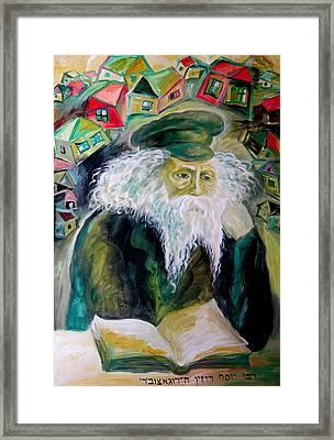 Rabbi Yosef Rosen The Rogatchover Gaon Framed Print by  Leon Zernitsky