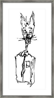 Rabbit Framed Print by Aram Wool