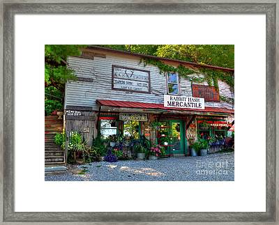 Rabbit Hash Mercantile Framed Print by Mel Steinhauer