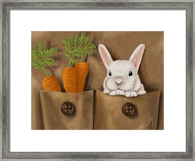 Rabbit Hole Framed Print by Veronica Minozzi