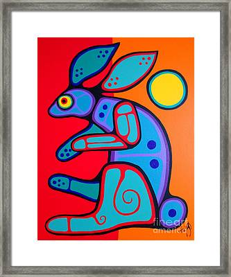 Rabbit Framed Print by Jim Oskineegish
