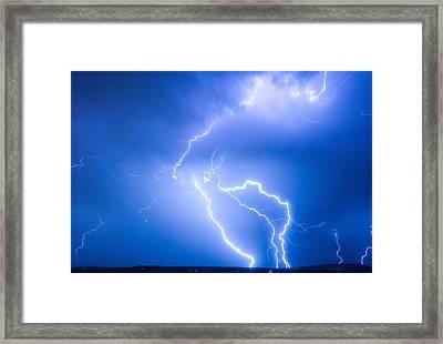Rabbit Mountain Area Lightning Strikes Boulder County Framed Print by James BO  Insogna