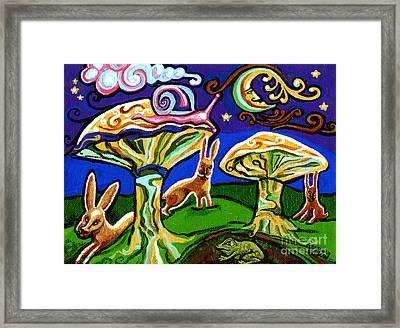 Rabbits At Night Framed Print by Genevieve Esson
