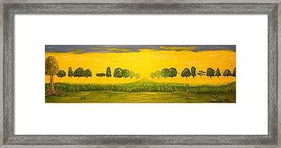 Rabbits Love The Sun Framed Print by Scott Wilmot