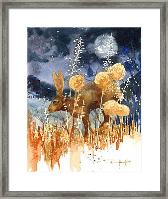 Race Against The Moon Framed Print by Alison Fennell