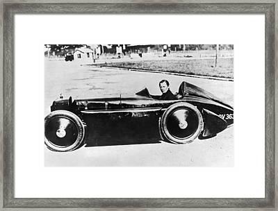Race Car Driver Gwenda Stewart Framed Print by Underwood Archives