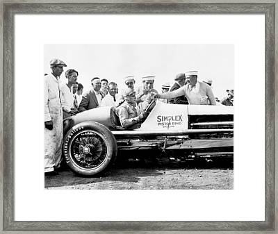 Race Car Driver Ray Keech Framed Print by Underwood Archives