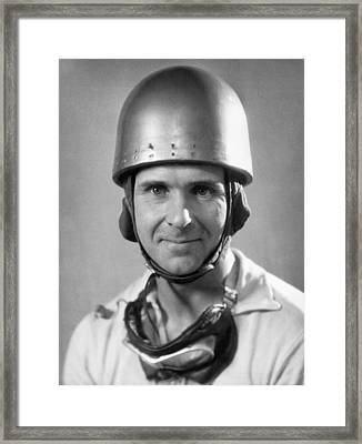 Race Car Driver Framed Print by Underwood Archives