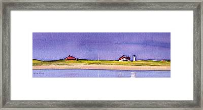 Race Point Framed Print by Heidi Gallo