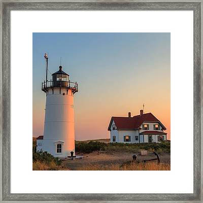 Race Point Lighthouse Square Framed Print by Bill Wakeley