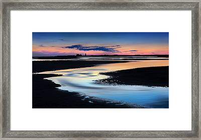 Race Point Low Tide Sunset Framed Print by Bill Wakeley