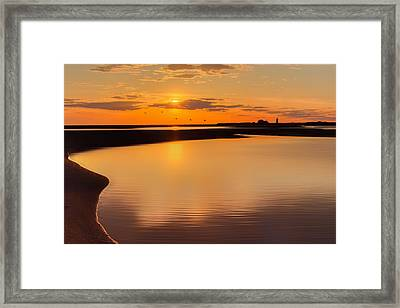 Race Point Silhouette Framed Print by Bill Wakeley