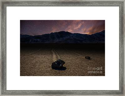 Racetrack Playa Framed Print by Deryk Baumgaertner
