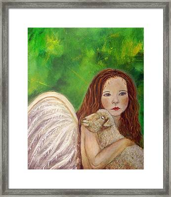 Rachelle Little Lamb The Return To Innocence Framed Print by The Art With A Heart By Charlotte Phillips