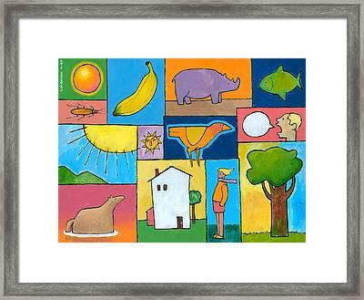 Rachel's Painting Framed Print by Douglas Simonson