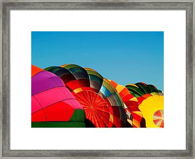 Racing Balloons Framed Print by Bill Gallagher