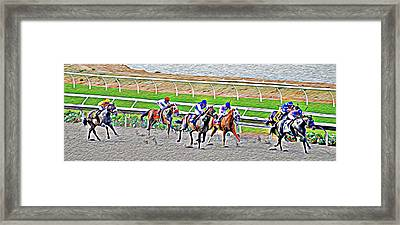 Racing Horses Framed Print by Christine Till