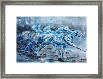 Racing Framed Print by Jennings Ingram