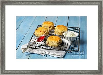 Rack Of Scones Framed Print by Amanda Elwell