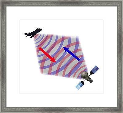 Radar Illustration Framed Print by Gwen Shockey