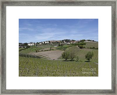 Radda In Chianti Framed Print by Chris Selby