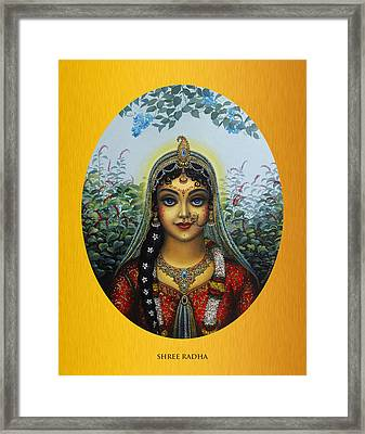 Radha Framed Print by Vrindavan Das