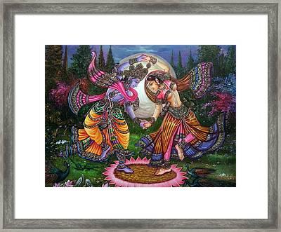 Radhakrishna Raas Lila Framed Print by Mayur Sharma